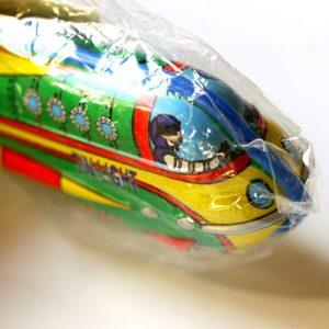 ブリキのライターホルダー・ロケット・グリーン