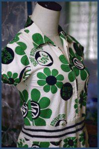 グリーンお花ワンピ*ジュニアサイズ140