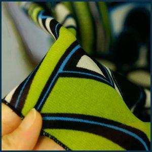 レトロプリント*緑系*ロングワンピ